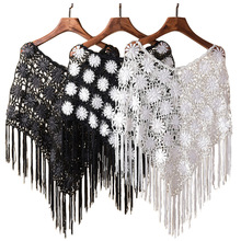 2016 Four Seasons Lace Hook Flower Hollow Shawl Capelet Crochet Tassel Short Poncho Sun Protection Cover-ups Tippet 10Color