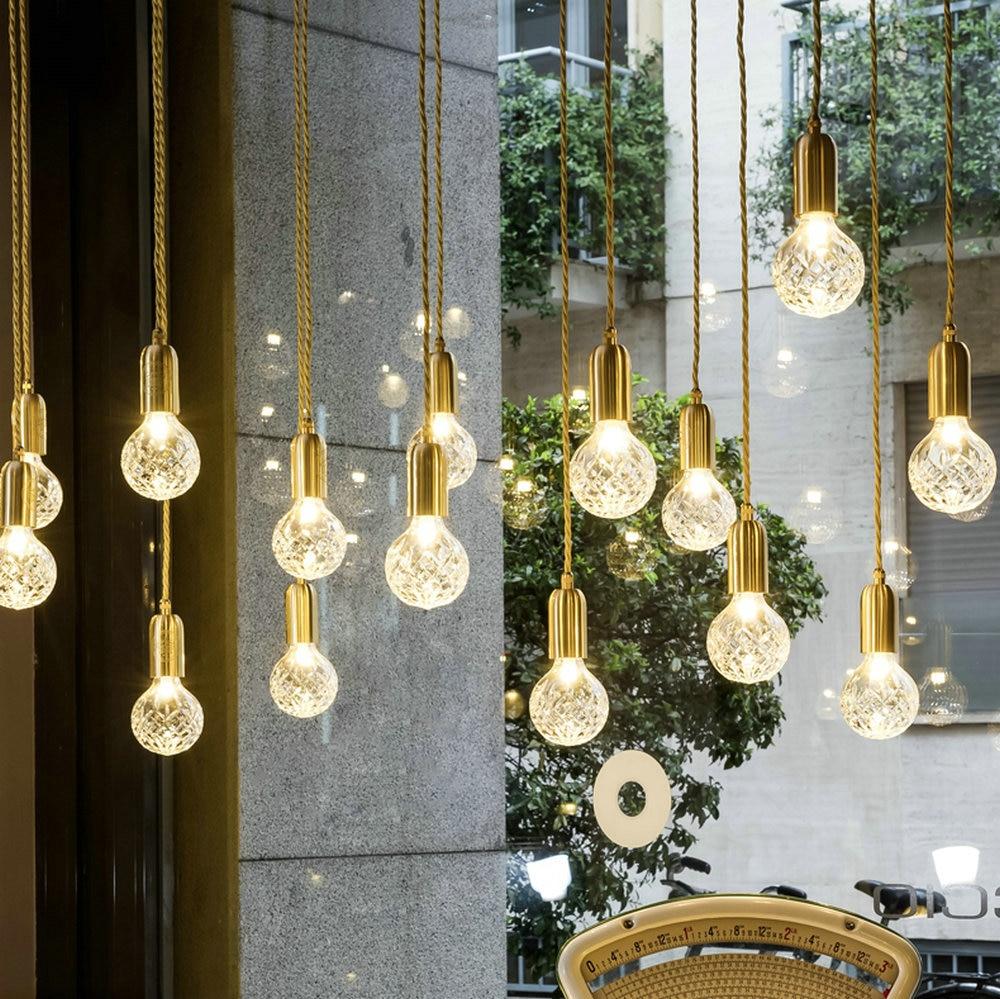 Verre moderne G9 pendentif LED luminaires luminaire suspension Designer Style Loft rétro cuisine lampe métal industriel éclairage chambre Bar