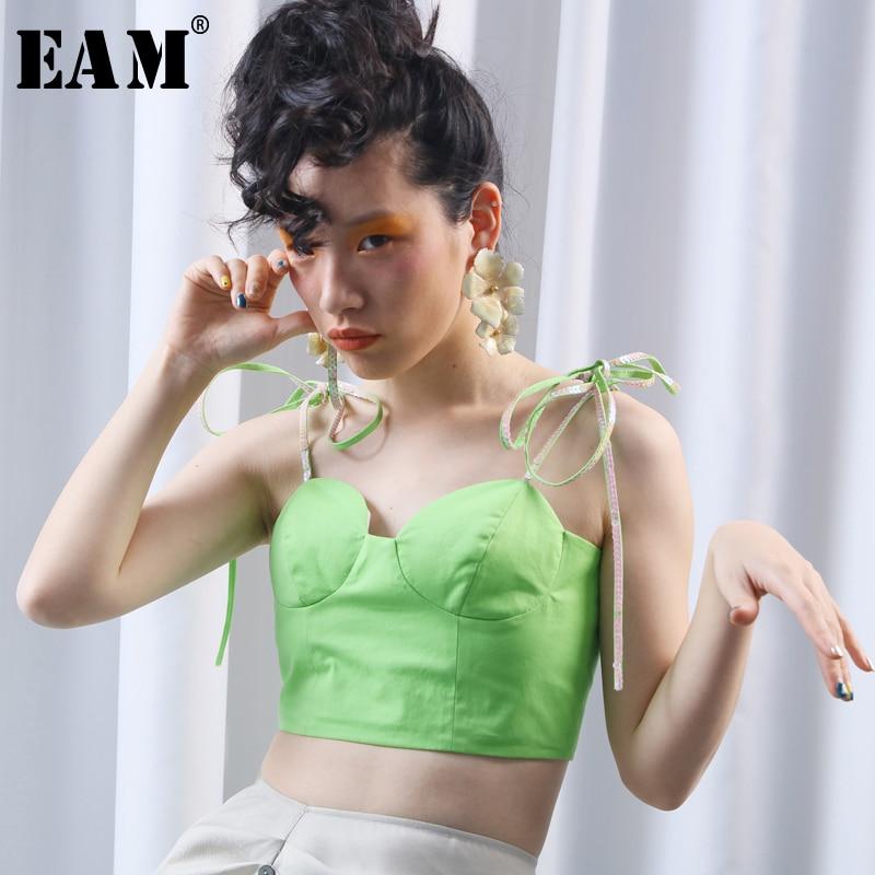 [EAM] 2019 New Spring Lapel Long Puff Sleeve Sashes Dot Mesh Stitching Loose Long Windbreaker Women Coat Fashion JH394