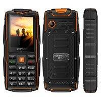 VKWorldใหม่หินV3โทรศัพท์มือถือกันน้ำIP68 2.4นิ้วGSM FMรัสเซียแป้นพิมพ์3ซิมการ์ดสล็อต3000มิลลิแอมป์ชั่วโม...
