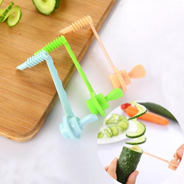 NEW Kitchen DIY Vegetables Potato Cutter cuke Carrot Spiral Slicer Cutting Modes Cooking Tools Fruit Manual slicing knife 2