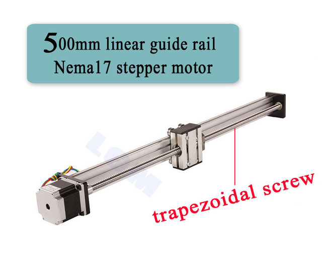 US $90 43 |linear rail nema17 linear stepper motor 500mm linear guide rail  trapezoidal screw effective 500mm LG015 on Aliexpress com | Alibaba Group