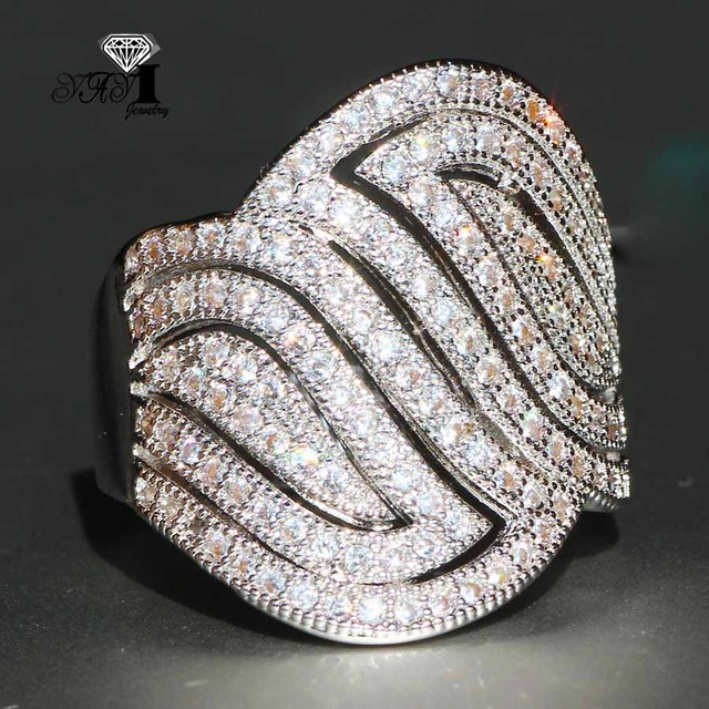 YaYI Jewelry Fashion Princess Cut 4.6 CT White Zircon Silver Color Engagement Rings wedding Heart Rings Party Rings