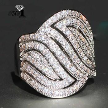 YaYI biżuteria moda księżniczka Cut 4 6 CT biały cyrkon srebrny kolor pierścionki zaręczynowe obrączki ślubne Party pierścionki tanie i dobre opinie 15mm Kobiety Geometryczne Miedzi yayi jewelry HR539 Zaręczyny Prong ustawianie TRENDY Zespoły weselne Cyrkonia NONE Good Mood