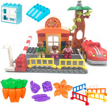 City Road Cars Cafe Modle DIY Classic Building Blocks Brick Baby Toys for Children Compatible Accessories Parts(China)