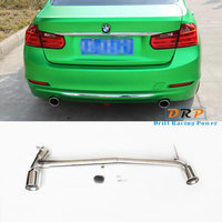 Best Quality bilateral single out three type carbon fibre and stainless steel tail throat fit 13 16 BMW 3Series 320,420F35,F30