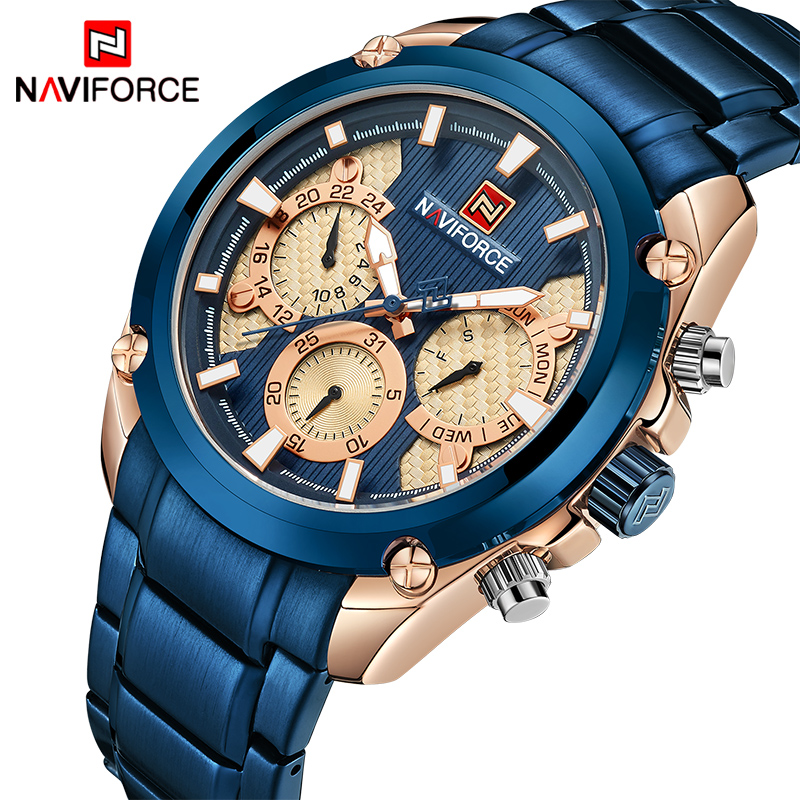 NAVIFORCE Top Luxury Brand Watches Men Fashion Sport Quartz 24 Hours Date Watch Man Military Waterproof Clock Relogio Masculino