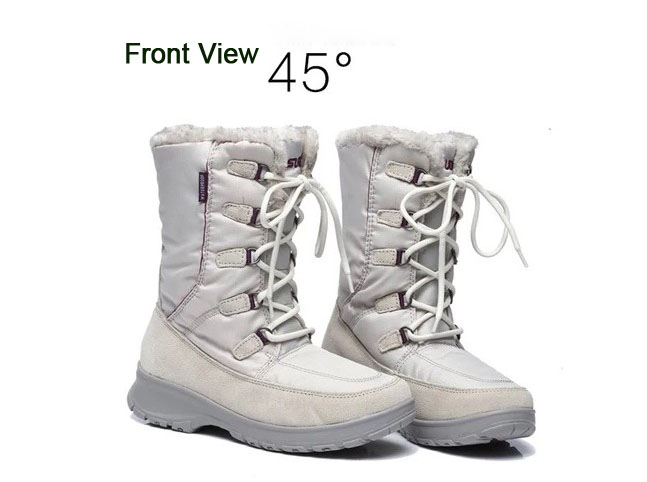 Women winter walking boots ladies snow boots waterproof anti-skid skiing shoes women snow shoes outdoor trekking shoes for-45C