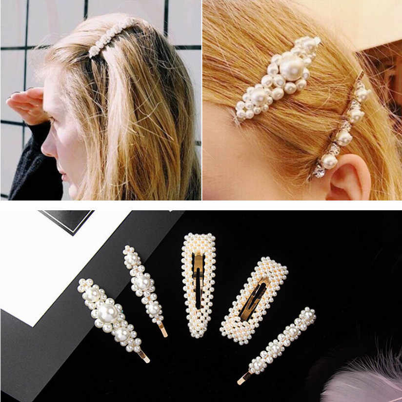 2019 Elegant Plum Blossom Pearl Hair Clip Korean Design Hairband Comb Bobby Pin Barrette Hairpin Headdress Accessories HOT