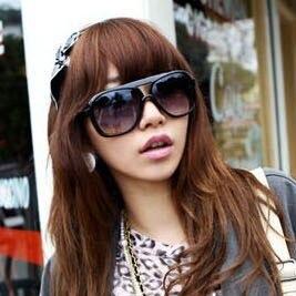 f52ec9ed005b Korean version new cool retro men sunglasses large frame sunglasses women  outdoor fashion glasses ken block oculos de sol B0049-in Movie   TV  costumes from ...