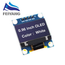 New product 0.96 inch OLED IIC White/YELLOW BLUE/BLUE 12864 OLED Display Module I2C SSD1306 LCD Screen Board for Arduino(China)