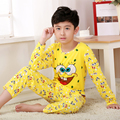 Cartoon Children Long Sleeve Pajamas Boy Girl spring and autumn sleepwear Baby nighty Suit Child bedgown Clothes kids pyjamas