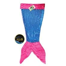 Sequin Mermaid Children Blanket Ice Cream Shark Tail Throw For Kids Coral Fleece Sleeping Wrap Bed/Sofa