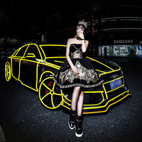 Car Reflective Strip Car Styling At Night Strong Reflective Body Fluorescent Stickers Traffic Warning Signs Trucks