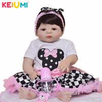 Leuke '57 cm Pop Reborn baby's Volledige Siliconen Vinyl Body Reborn Poppen Prinses Kinderen Speelkameraadjes Baby Speelgoed Meisje Mode geschenken