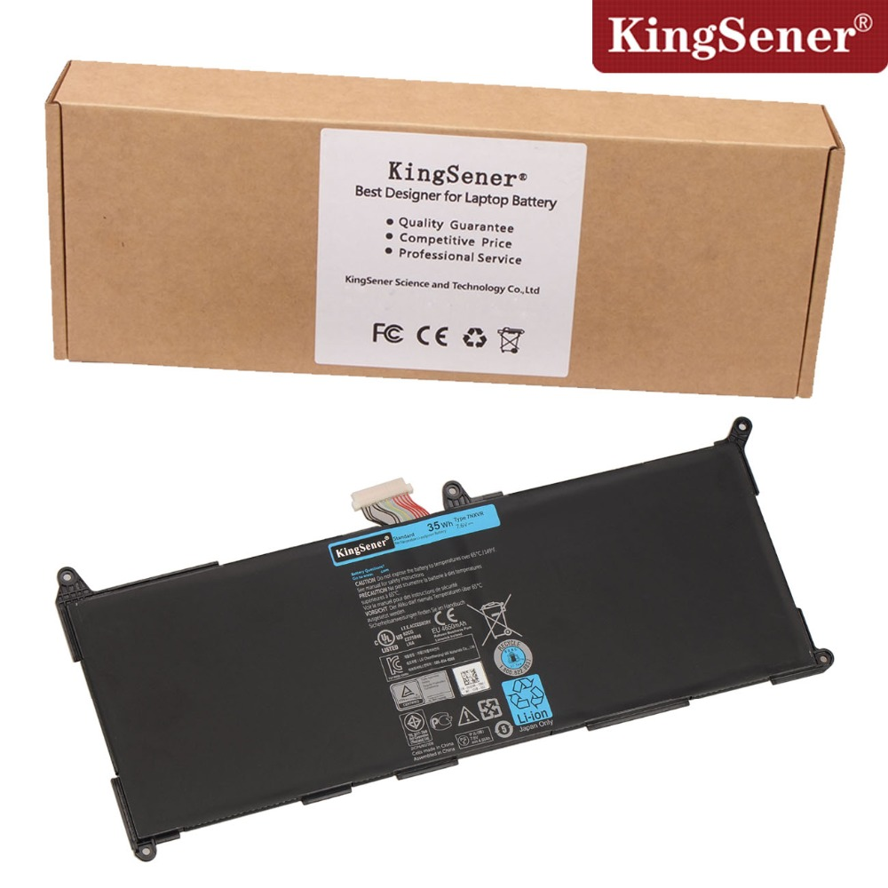 KingSener  New Laptop Battery 7NXVR For DELL  Ultrabook 7NXVR Batteria 7.6V 35WH Free 2 Years Warranty afina шезлонг фея релакс 6 cho 12b коричневый с рисунком