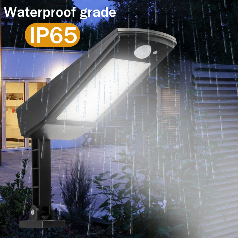 Smuxi 48LED 900LM Solar LED Light Wall Lamp 4 Modes Emergency Light With Adjustable Pole For Garden Outdoor Lighting
