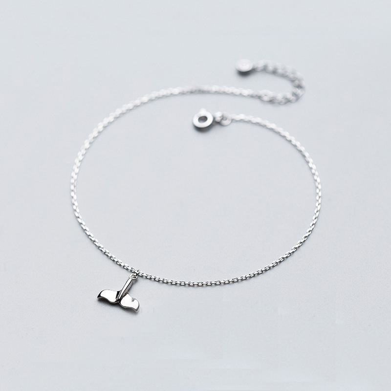 MloveAcc Real 925 Sterling Silver Anklet Chain Summer Jewelry Mermaid Tail Ankle Bracelets Wholesales