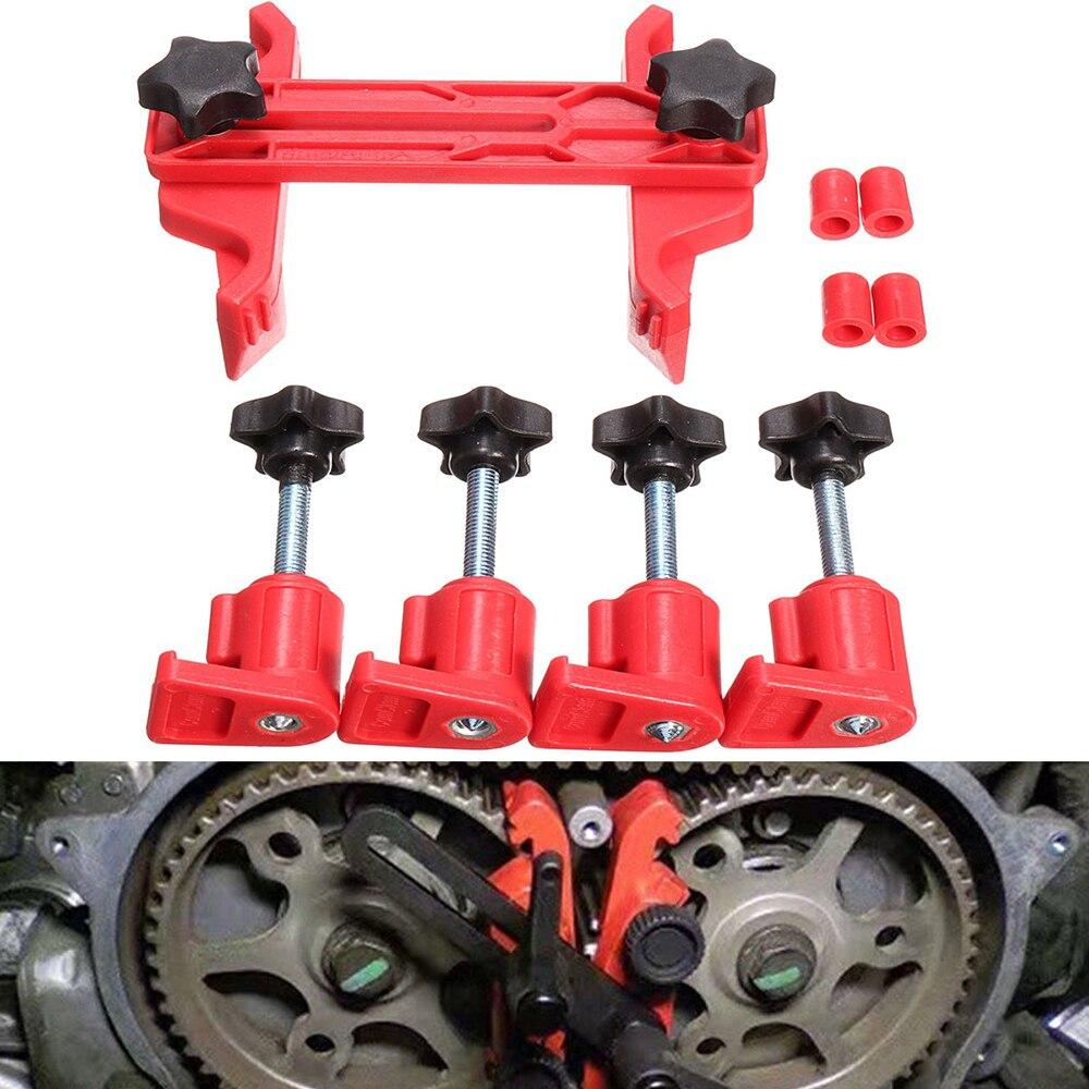 Universal Dual Cam Clamp Camshaft Timing Sprocket Gear Locking Tool Kit 5Pcs//Set