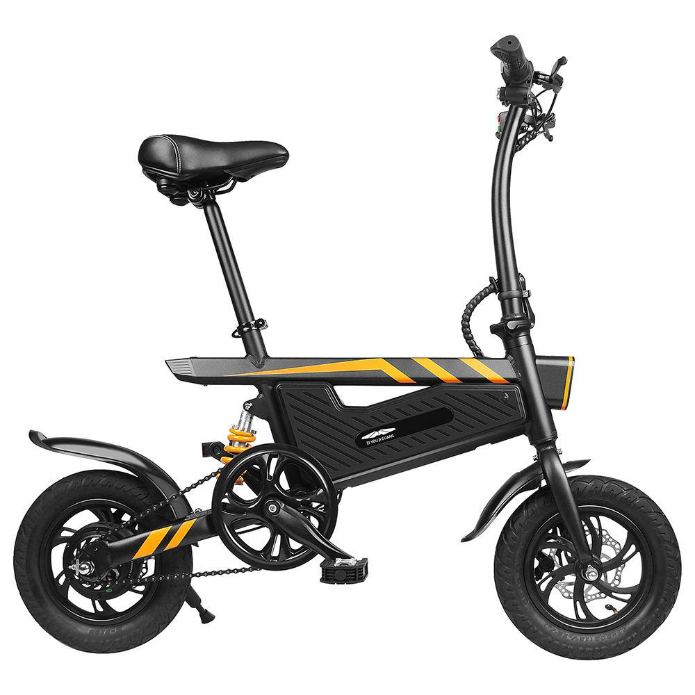 New T18 font b Portable b font Folding Smart Electric Moped Bicycle 250W Motor max 25Km