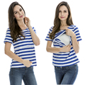 Maternity Nursing Tops Breastfeeding Clothes short sleeves Striped Summer Tee 2015 New style Hot wholesale