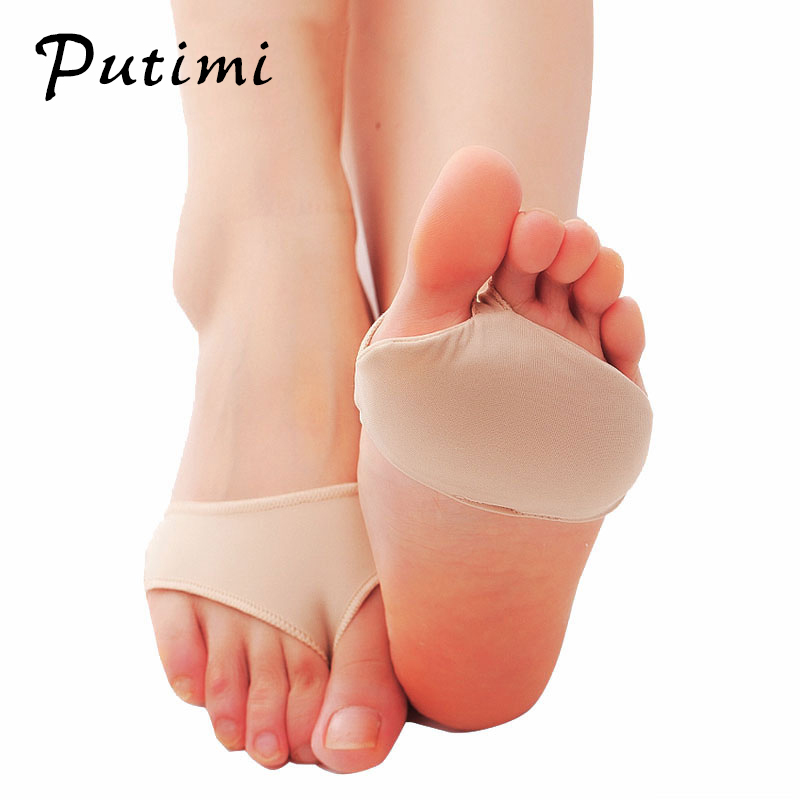 Putimi Fabric Gel Pads for Feet Care Slip Resistant Metatarsal Cushions Pads Silicone Forefoot Pain Support Front Foot Care Tool-in Foot Care Tool from Beauty & Health
