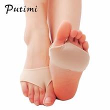 Putimi Fabric podkładki żelowe do pielęgnacja stóp antypoślizgowa poduszka śródstopia podkładki silikonowe przednie wsparcie bólu przednie narzędzie do pielęgnacji stóp