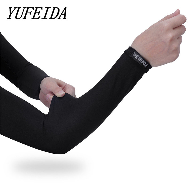 YUFEIDA Sports Arm Sleeve, UV Protection Arm Warmers Cooling Compression Sunscreen Spf Sleeves Cover Skin For Men Women