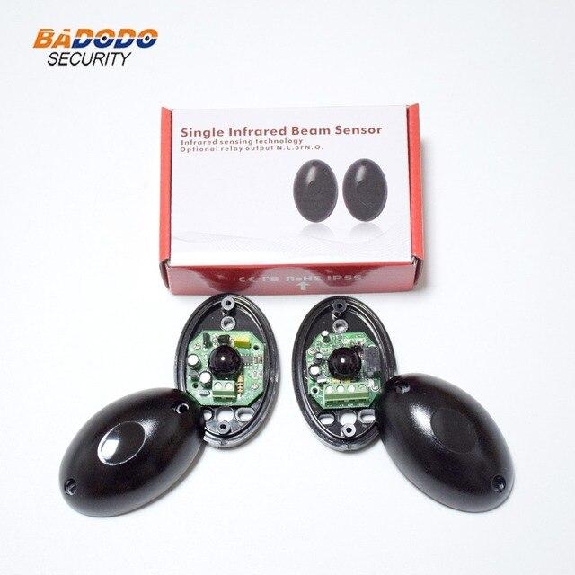 US $3 68 |DC/AC 12~24V waterproof IP55 photocell automatic gate door safety  sensor alarm infrared beam sensor photocell 15m detect range-in Sensor &