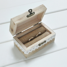 Rustic Wood Art Personalized Wedding Ring Bearer Box