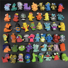 10Pcs/lot Zomlings Superzings Anime Trash Dolls Action Figures Rubber monster Toy children Playing Animal Garbage Doll Gift pack in bag 1 3pcs lot superzings anime trash dolls action figures 3cm super zings rubber model playing garbage doll gift