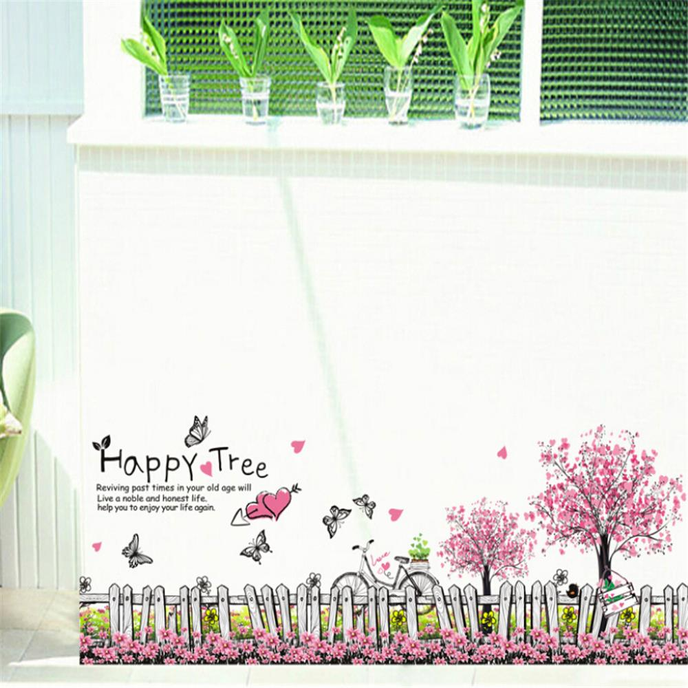 compare prices on corner wall decals online shopping buy low happy tree vinyl wall stickers for kids rooms children home decor sofa living wall decal corner