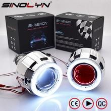 Sinolyn phares lentilles bi xénon projecteur lentille 2.5 ange diable yeux LED DRL Tuning pour H4 H7 voiture lumières accessoires rénovation