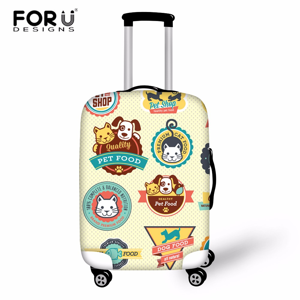 FORUDESIGNS Suitcase Trolley Case Luggage Stickers Print Protective Cover For 18-28 Inch Travel Cases Fashion Suitcase Covers
