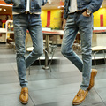 Free Shipping!in 2015, Leisure Fashion Men's Jeans Brand Cowboys Feet Pants Comfortable Soft Pencil Pants