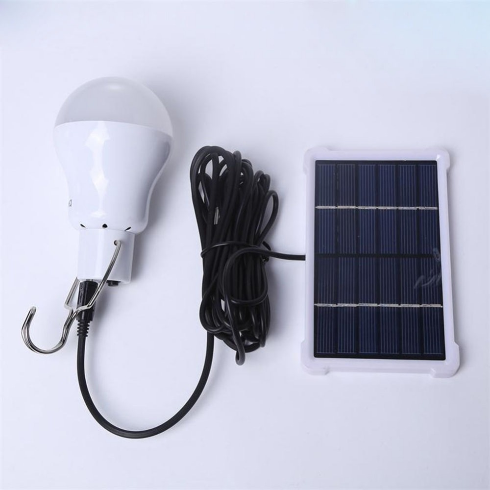 Portable Solar Light Bulb Led Rechargeable Hanging Lamp Home Energy Lighting Fishing Lights Outdoor Hiking Camping Tent