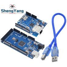 1 ensemble ShengYang UNO Ethernet W5100 carte dextension réseau carte SD bouclier pour arduino avec Mega 2560 R3 Mega2560 REV3