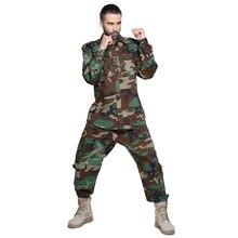 Весна Осень открытый мужской против царапин Камуфляжный комплект форма мужские тактические военная одежда рубашка с длинным рукавом Штаны костюм передач