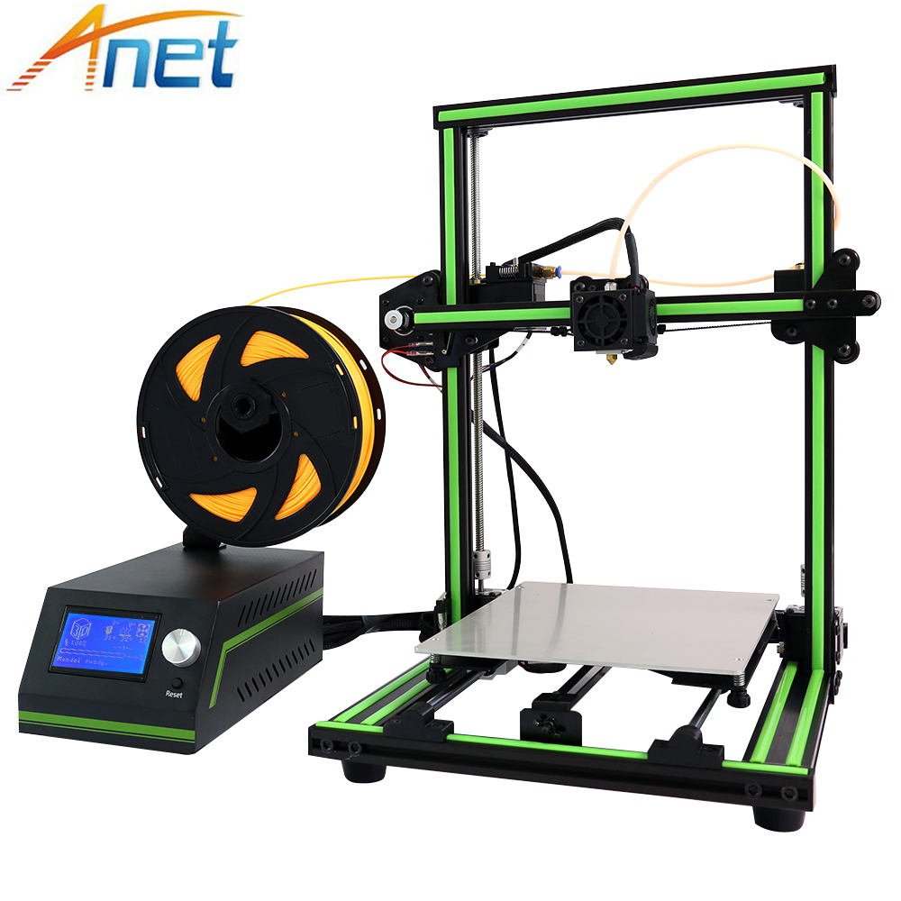 New! Anet E10 E12 3D Printer DIY Kit Aluminum Frame Multi-language Large Printing Size High Precision Reprap i3 with Filament new anet e10 e12 3d printer diy kit aluminum frame multi language large printing size high precision reprap i3 with filament