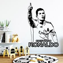 Drop Shipping cristiano ronaldo Wall Sticker Home Decor Decoration Kids Room Nature Murals