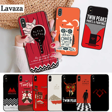 Lavaza Welcome To Twin Peaks Silicone Case for iPhone 5 5S 6 6S Plus 7 8 X XS Max XR