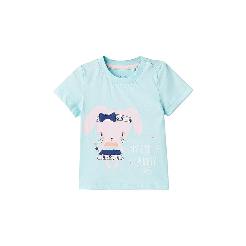 T-Shirts MODIS M182K00038 for baby girls kids clothes children clothes TmallFS kawaii fresh horse plush stuffed animal cartoon kids toys for girls children baby birthday christmas gift unicorn pendant dolls