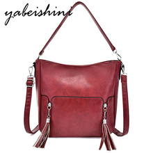 High quality tassel Tote Fashion Luxury Women Handbag PU Leather Shoulder Bags Lady Large Capacity Crossbody Hand Bag Sac A Main цена 2017