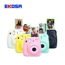 Cámar fujifilm instax mini 8 fiji mimi8 película instantánea cámara fotográfica blanco rojo azul rosa 4 colores liberan el envío