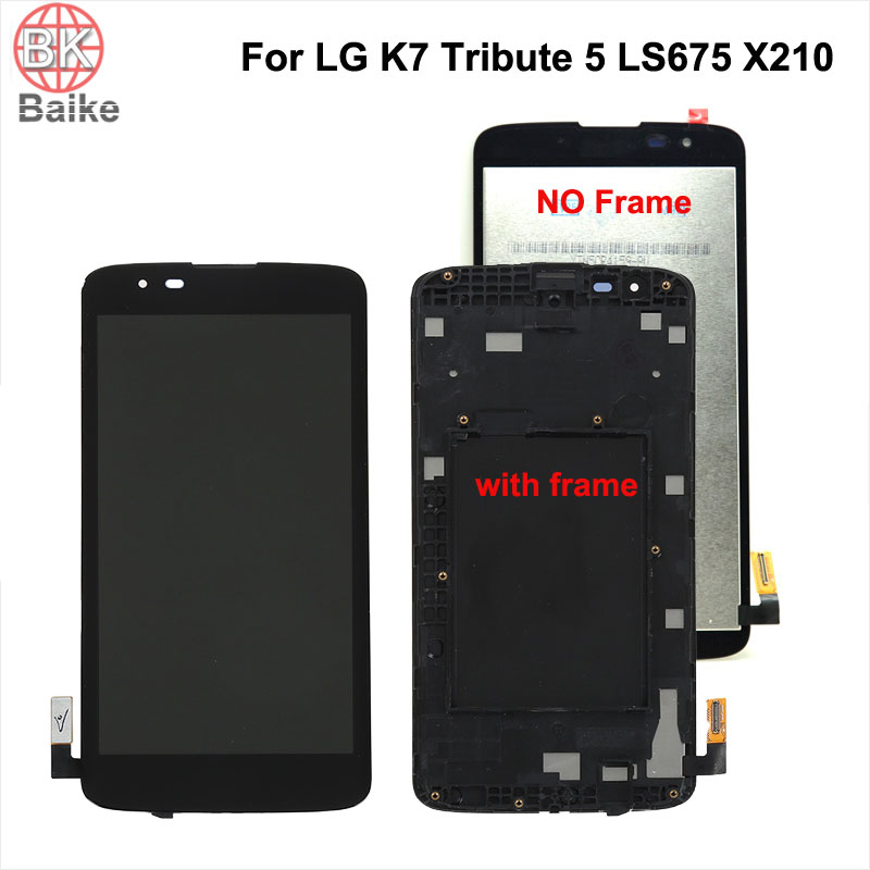 5 inch Original For LG K7 Tribute 5 LS675 Lcd Screen Display + Touch Screen Digitizer Assembly + frame Repair Parts