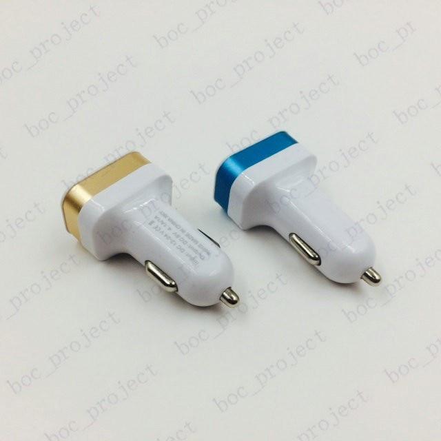 3 Port Aluminiumboden Dual Port USB Autoladegerät USB Adapter für - Handy-Zubehör und Ersatzteile - Foto 4