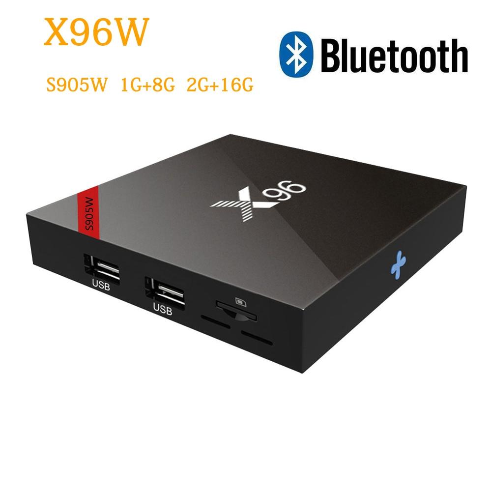 все цены на X96 X96W Android 7.1 TV Box Amlogic S905W Quad Core 2GB 16GB Smart Tv Support 2.4GHz WiFi Bluetooth HD 4K H.265 VS X96mini