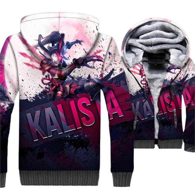 2018 invierno funny 3D impreso con capucha chaquetas revestimiento de lana  gruesa caliente juego Marca Ropa 45a9acb9520