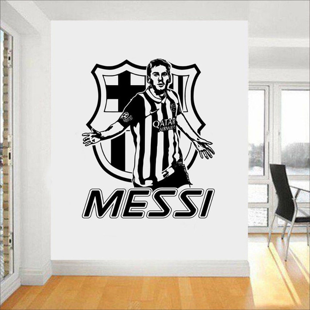 Messi Cool Wall Stickers Service Soccer Player Barcelona Wall Decal Morden  Design Shopping Boy Bedroom Aplicable Part 98