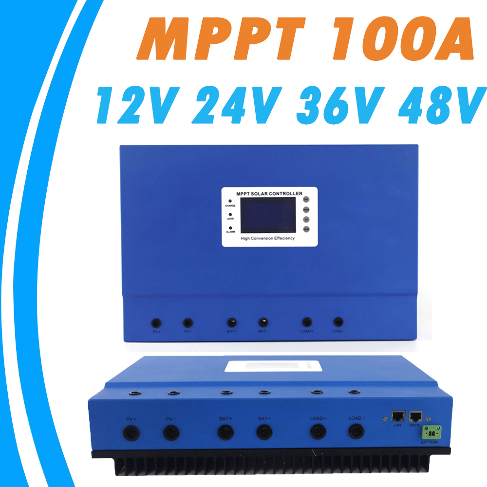 MPPT 100A Solar Charge Controller 12V 24V 36V 48V Auto for Max 150V Input with Memory Function 2 Years Warranty Solar Regulator dmx512 digital display 24ch dmx address controller dc5v 24v each ch max 3a 8 groups rgb controller